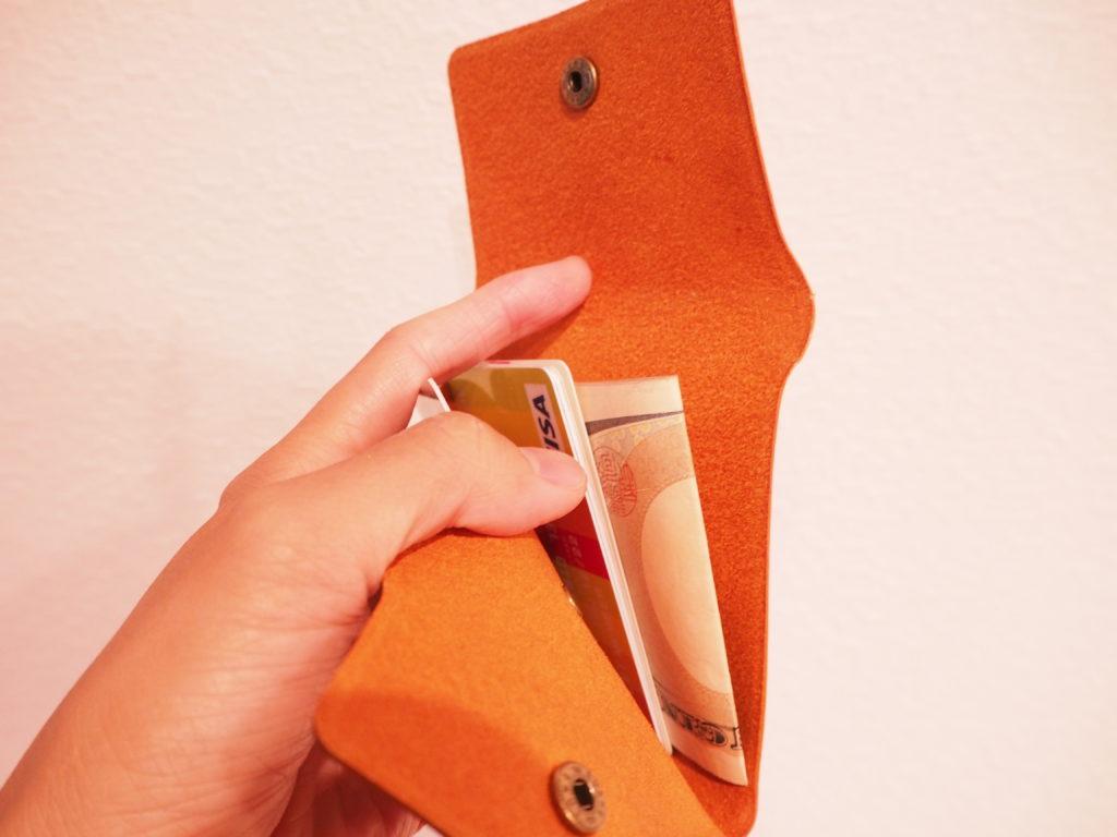 究極のミニマル財布をひらいたところ
