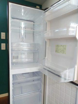 冷蔵庫を開けたところ