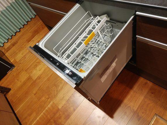 食洗機を開けっ放しで自然乾燥