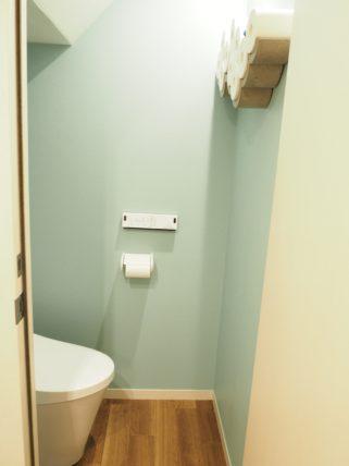 マイホームのトイレを入口から見たところ